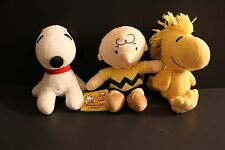 1 Set of 3 PCS Peanuts Gang Charlie Brown  Snoopy Woodstock Plush toy Doll