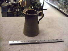 US WW2 Era 1qt Tin Pitcher For Motor Oil  or Mess Hall Use Marked SAVORY