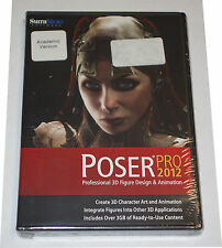 Smith Micro Poser Pro 2012 Educational (PC/Mac) PSRPRO2012HDVDE NEW Sealed