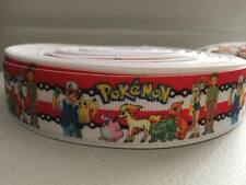 "1 Metre Pokemon Go Pikachu Charmander 25mm 1"" Grosgrain Ribbon kids cake craft"