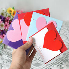 Cute 3pcs Heart-shaped Birthday Christmas Greeting Message Card Envelope HOT