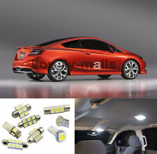 White 4* Interior Light LED Bulb kit for Honda Civic 2006 2007-2012 Sedan Coupe