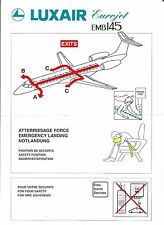 Safety Card - Luxair - EMB 145 Eurojet - 1 Brace Position version (S3682)