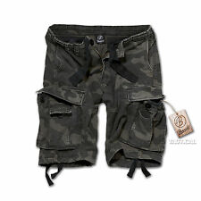 BRANDIT CLASSIC VINTAGE MENS COMBAT CARGO SHORTS KNEE LENGTH MILITARY STYLE ARMY