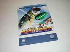"""Original de matériel publicitaire pour Sega DREAMCAST JEU """"Sega bass fishing"""""""