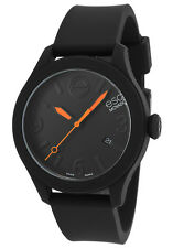 ESQ BY MOVADO BLACK DIAL DATE BLACK SILICONE STRAP MEN'S WATCH 07301436 NEW