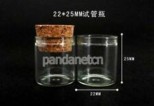 20pcs 5ml Empty Sample Vials Clear Glass Bottles with Corks Jars Small Display