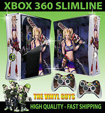 XBOX 360 SLIM STICKER LOLLIPOP CHAINSAW DARK ZOMBIE GRAPHICS SKIN & 2 PAD SKINS