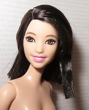 (B) NUDE BARBIE (B)~ TALL RAVEN ASIAN SMILEY FASHIONISTA EVOLUTION DOLL FOR OOAK