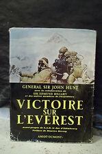 Sir John Hunt.VICTOIRE SUR L'EVEREST.AVEC LA COLLABORATION DE SIR EDMUND HILLARY