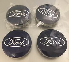 Ford 54mm Blue Alloy Wheel Centre Caps Fits Models inc B-Max Kuga S-max