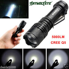 5000LM CREE Q5 3 Modes Zoomable LED Flashlight Focus Torch Bright Light AA/14500