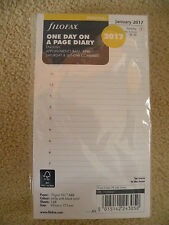 Filofax 2017 Personal size Diary - One Day On A Page Refill Insert 17-68441