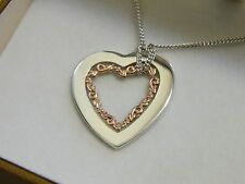 Clogau Silver & Rose Welsh Gold 'One' Pendant RRP £199.00