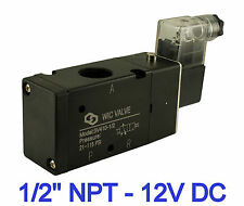 "1/2"" Inch Pneumatic 3 Way Electric Directional Control Air Solenoid Valve 12V DC"