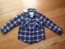 Diesel Boys Kids Toddlers Shirt Top. Button Down. Plaid. Blue & Black. Size 2.