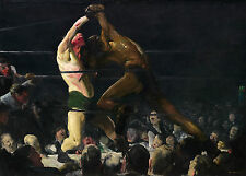 Images of America: George Bellows: Both Members of This Club - Fine Art Print