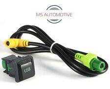 USB PORT DASH SOCKET CABLE WIRE VW GOLF MK5 MK6 RNS510 RNS310 5KD035726A