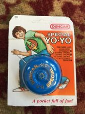 Vintage Duncan Special Yoyo New! Blue Unpunched Card