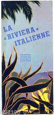 Italie . Italia . la Riviéra Italienne . guide touristique . 1934