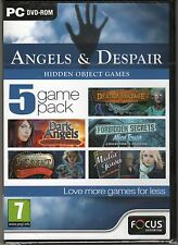 DARK ANGELS: MASQUERADE SHADOWS Hidden Object ANGELS& DESPAIR 5 PACK PC Game NEW