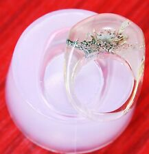Clear silicone rings Mold. Size 8. 5  Free USA Shipping!!!!!!(334)