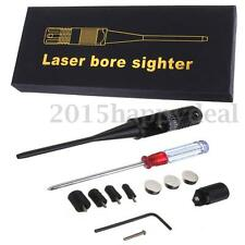 Red Laser Bore Sighter 0.22- 0.50 Caliber Rifle Battery Collimator Box Hunting