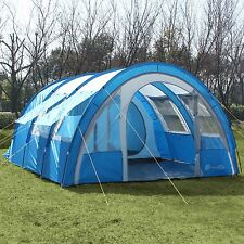 skandika Kemi 4 Person/Man Family Tunnel Tent 3000mm Water Column Blue New
