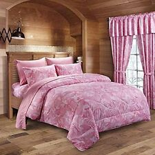 THE PINK MILITARY CAMO REVERSIBLE COMFORTER KING!  CAMOUFLAGE! BEDDING!