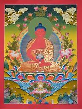 "30.25"" x 22.5"" Amitabha Buddha Tibetan Buddhist Thangka Scroll Painting Nepal"