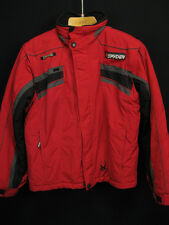 SPYDER XT 2000 Boys Red Ski Snow Insulated Zip off Sleeves Vest Jacket Size 18