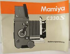 MAMIYA C330S INSTRUCTION MANUAL EXCELLENT CONDITION ENGLISH VERSION