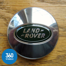 1 x NEW GENUINE LAND ROVER ALLOY WHEEL CENTRE CAPS CHROME BADGES LR023301