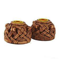 Celtic Knotwork Candleholders Pair   Dryad Designs   Wiccan Pagan Wicca Knot