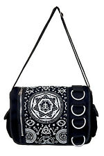 Pentagram Black Messanger Bag By Banned