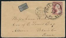 #15L15 ON COVER WITH #11A HAND STAMPED BLOOD'S DESPATCH PCT 11,1856 BQ1327