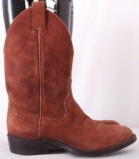 "Sanders 16446 Pull On Brown Leather Cowboy Western 10.5"" Boots Men's US 7M"