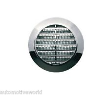 "Chrome Mini Circle Air Vent Grille 60mm 0.24"" Furniture Ventilation Cover T74MS"