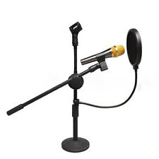 Recording Studio Microphone Mic Screen Pop Filter Mask Shield Double Layerl RE