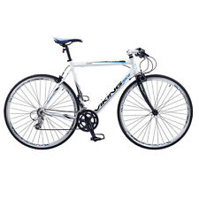 VIKING PALERMO MENS FLAT BAR ROAD RACING BIKE 700C WHEEL ALLOY 59CM FRAME WHITE