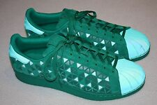 Adidas Superstar Xeno Reflective Fresh Green Athletic Shoes Men Size 12, Mint