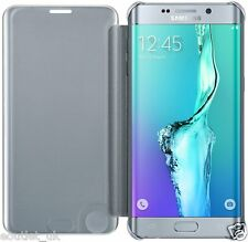 "Official Samsung ""Clear View Cover"" Case for Galaxy S6 Edge Plus -Silver"