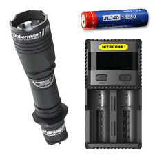Armytek Dobermann Pro XP-L Hi w/ SC2 Charger & Jetbeam 3400mAh Battery