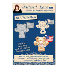 Tattered Lace Essentials - Charisma USA Teddy Bear + CD-ROM - ETL477