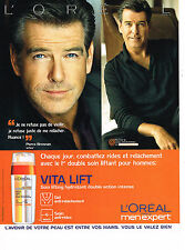 PUBLICITE ADVERTISING 054  2008   L'OREAL VITALIFT homme PIERCE BROSNAN