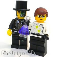 Lego Mr. Good and Evil with Custom Crazy Scientist Minifigures (M302 M039M) NEW
