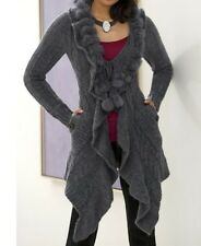 Women's Fall Spring Winter Wool blend fur Sweater cardigan coat jacket plus1X 2X