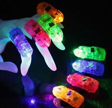100 PCS WHOLESALE CAR FINGER LIGHT UP RING LASER LED RAVE PARTY FAVOR GLOW BEAMS