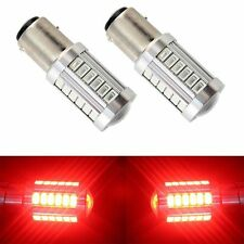 2X  Red 1157 BAY15D S25 33SMD 5730 LED Turn Tail Signal Brake Stop Backup Light