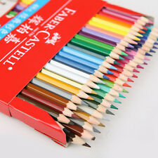 Colored 48 Colors Water-color Drawing Pencils Set Faber-castell+SHARPENER+Brush